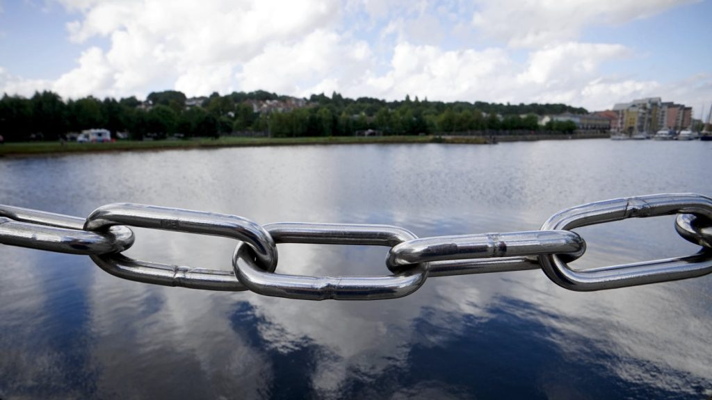 Picture of a chain link, symbolising backlinks in accountant SEO
