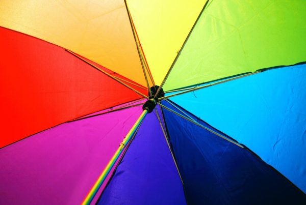 Creative example of an umbrella colour wheel in accountant marketing
